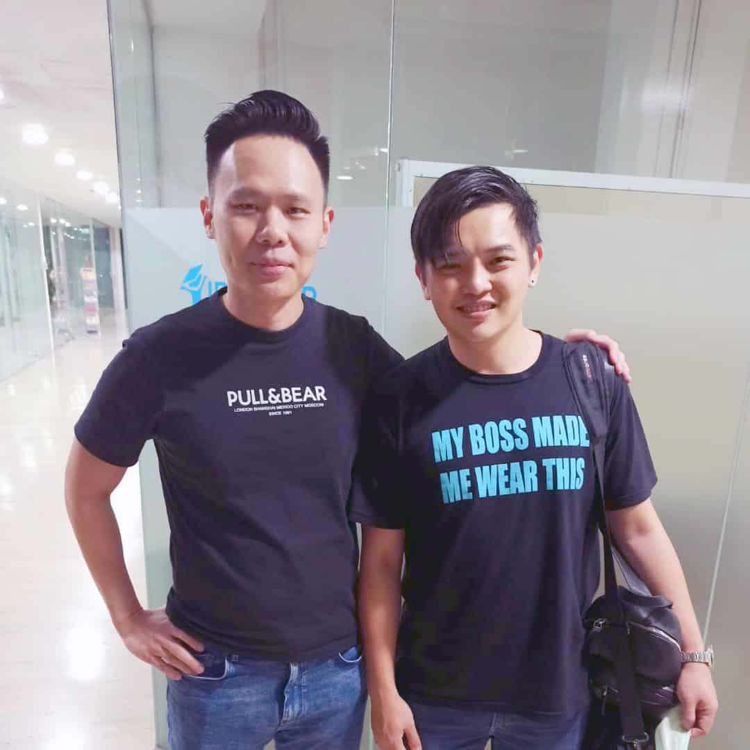 Jax Ng with James Soh, Founder of Renopedia, the number 1 renovation platform in Singapore
